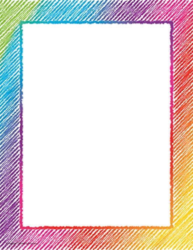 Teacher Created Resources Colorful Scribble Computer Paper