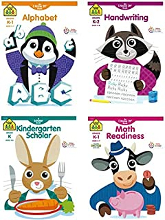 School Zone Educational and Learning Activity Workbooks, Four-Pack