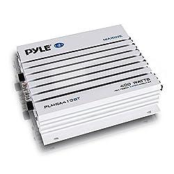 powerful Pyle 2.1 Bluetooth Marine Amplifier Receiver – Waterproof 4-Channel Wireless Audio Amplifier…