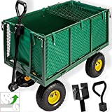 Kesser Bollerwagen  550kg belastbar Transportwagen Gartenwagen Gartenkarre  herausnehmbare Plane Gerätewagen Handwagen vielseitig einsetzbar