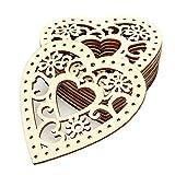 FinukGo Jm00228 Holz Festival Hochzeit Szene Requisiten Dekorationen DIY Handwerk Dekorationen Umwelt Urlaub Geschenke-Holz Farbe