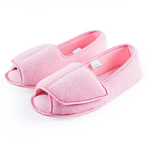 Git-up Women Diabetic Slippers/W Arthritis Edema Adjustable Closure Memory Foam House Shoes...