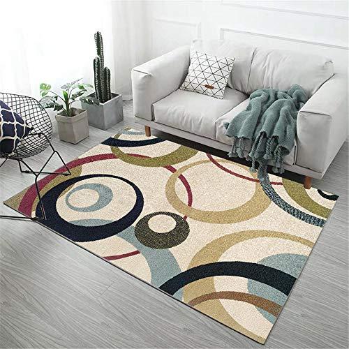 WQ-BBB Teppichs Schlafzimme Home Design teppcih Bunter Kreisentwurf schwarz und weiß rot blau braun...