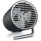 CSL – Mini Ventilatore USB a Doppia Ventola turbina - 2 Velocitá - Silenzioso Solo 45dB - Angolo di inclinazione ca. 30 Gradi – Supporto in Alluminio