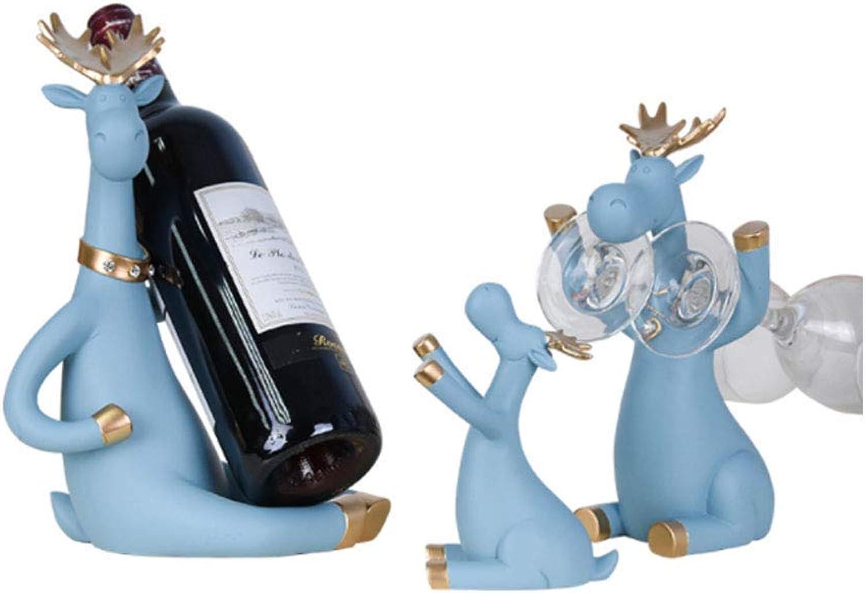 Red Wine Shelf Wine Rack Decoration Wine Decoration Home Creative Cute Home Wine Shelf(Pack of 3) Wine Cabinets