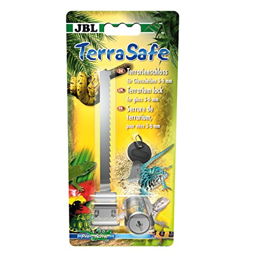 JBL TerraSafe 61516 Terrarisslot voor alle glazen ruiten met een dikte van 3-6 mm, incl. 2 sleutels