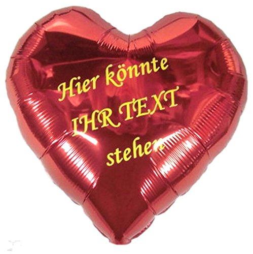 Verkauf durch Lollipop Folien-Herzballon mit Beschriftung, ca. 45 cm Ø, einseitig beschriftet/ohne Gasfüllung