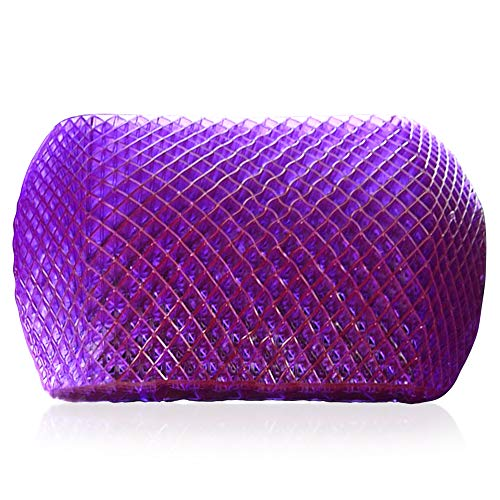 Purple Back Support Cushion - Lumbar Back Cushion for The Car Or Office Chair - Temperature Neutral Grid