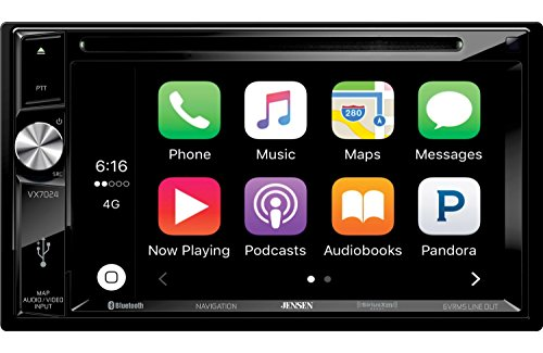 "Jensen VX7024 Double Din 6.2"" TFT Navigation Multimedia Receiver w/CarPlay"