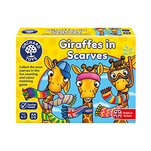 Orchard Toys- Giraffes in Scarves Juego, Multicolor, talla única (070) , color/modelo surtido