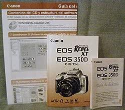 INSTRUCCIONES Canon EOS 350D Rebel XT Digital Camera Instruction Manual