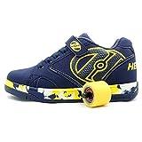Heelys Propel KR | chaussures à roulettes pour garçons | Bleu Marine/Jaune, (36.5 EU)