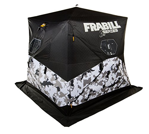 Frabill Bro Series Hub | Durable Ice Fishing Shelter | Artic Camo | Capacity: 3 Anglers