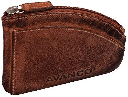 Estuche para llaves 21 (390D) de piel Avanco con 2 anillas de gancho.