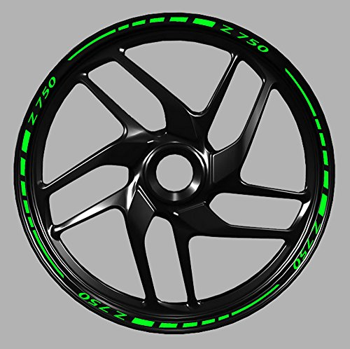 Adesivi cerchi moto mod1 z750 - z800 - z1000 wheel strip sticker