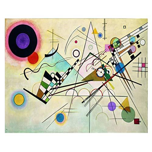 Legendarte Cuadro Lienzo, Impresión Digital - Composición VIII - Wassily Kandinsky cm. 80x100 - Decoración Pared