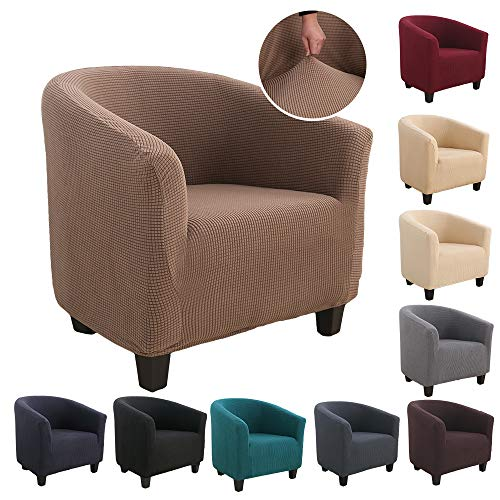 Souarts Sesselhussen Sesselbezug Stretch Elastisch Sofahusse Sofabezug Sesselschoner Couch Husse Sofaüberwurf (Braun)