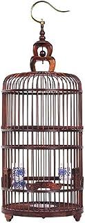 BBGSFDC La Jaula de pájaro de Madera Jaula de pájaro de Myna Thrush Jaula Circular Jaula del pájaro Casa de Madera Lintern...