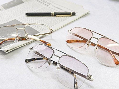 累進多焦点遠近両用老眼鏡(境目のない遠近両用メガネ) 1210 3色 7度数 (+1.00, グレーハーフ)