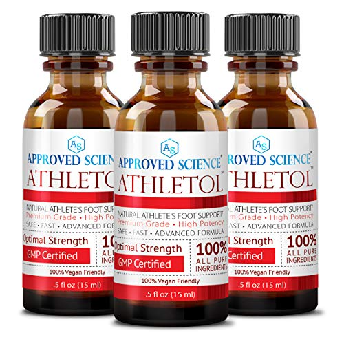 of athletes foot creams dec 2021 theres one clear winner Athletol - Rapid Athlete's Foot Relief - Undecylenic Acid (25% USP) & Tea Tree Oil - All Natural Vegan Friendly Formula - 3 Bottles .5 Fl. Oz