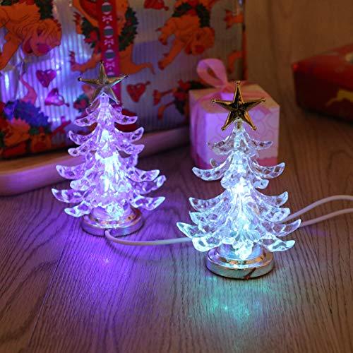 OSALADI 2 stücke weihnachtsbeleuchtung weihnachtsbaumbeleuchtung mit stern topper usb lade rgb nachtlicht weihnachtsschmuck für wohnzimmer kinderzimmer (silber)