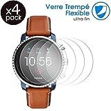 Karylax Bildschirmschutzfolie für Smartwatch, flexibel, bruchsicher, Festigkeitgrad 9H, ultradünn, 0,2 mm & 100 prozent transparent, für Fossil Q Tailor