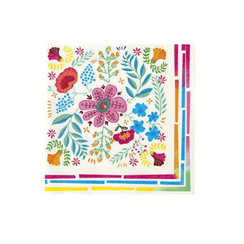 Talking Tables Boho, papieren servetten met kleurrijk bloemenmotief, 33 cm (20 stuks in 1 design)