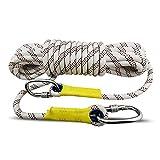 Xia Yuuu Net Blanche 16mm Multifonction Corde De Sécurité,Corde d'escalade Corde Auxiliaire pour Sport Escalade Alpinisme Grimpe Descente(10m-50m) (Size : 50m)