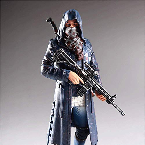 Action Figure PUBG Battle Royale: Trenchcoat Modell Spielzeug - Puppe Spielzeug Home Decoration Model Collection Animierte Charakter Modell Statue -Kinder Geschenke Der -26cm B