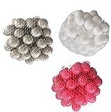 300 Bälle für Bällebad gemischt mix mit pink, weiß und grau