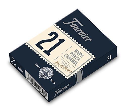 Fournier-Nº21 Poker Español Baraja Remigio, Rabino o Continental color azul/rojo Nº21 (F21003) , color/modelo surtido