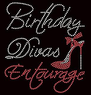 Birthday Diva's Entourage Heel Stiletto Rhinestone Transfer