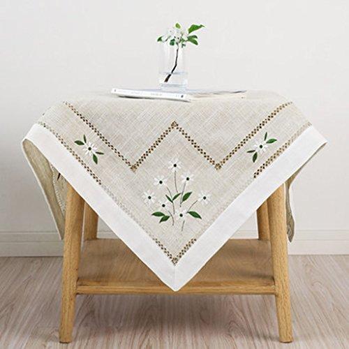 Nappes lin thé table tissu tissu de table rectangulaire table tissu mat table tissu pastoral petit frais (Size : 100 * 140cm)