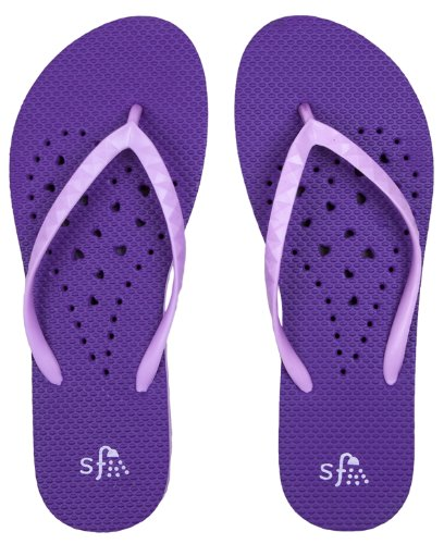 Showaflops Womens' Antimicrobial Shower & Water Sandals for Pool, Beach, Dorm and...