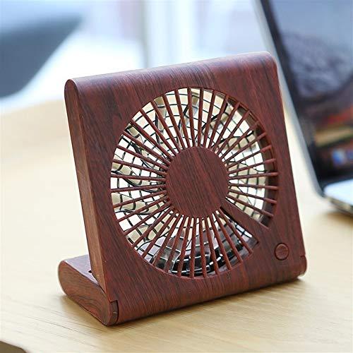 Zs-Cooling Fans Fan Faltbarer Handventilator Persönlicher Desktop Mini-Ventilator USB-Luftkühler Raum Kreativer Holzventilator Mini tragbarer Lüfter (Color : 03)
