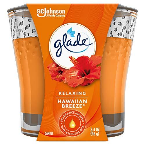 Glade Candle Jar, Air Freshener, Hawaiian Breeze, 3.4 Oz