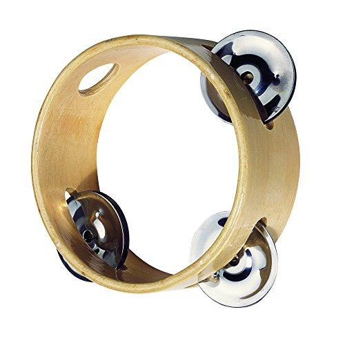 Goki UC087 - Musikinstrument - Tamburin mit 3 Schellen