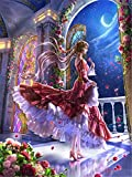 DIY 5D Pintura Diamantes Kit Chica luna Imagen Mosaico Diamond...