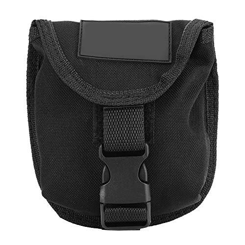 Tauchen Gewicht Tasche Beutel, 2KG Scuba Tauchen Bleigürtel wasserdichte Gewichtstasche Taschen Tauchgürtel Gewicht Gürtel Tasche mit Schnellverschluss(Schwarz)