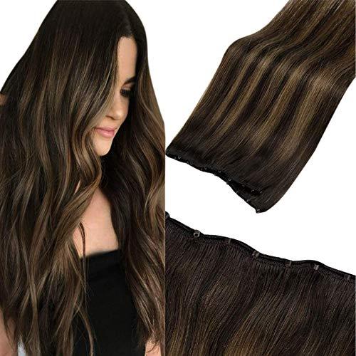 LaaVoo Micro Beads Weft Human Hair Extensions 22 Pulgada One