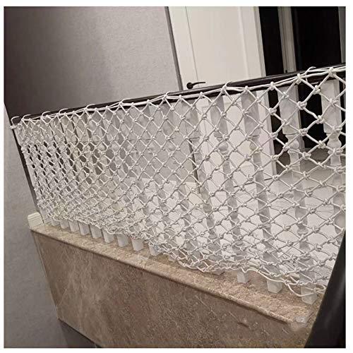 WWWANG Decoración Net Protection Cerca escalada Cuerda Tejido Camión de carga Remolque Net Net Nets Nets Blanco para Balcón de Balcón Banister Stair Playground Niños Decoración de interiores para niño
