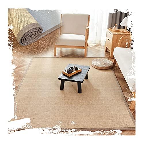 WENZHE Bambus Gewebter Teppich Bambusteppich, Verschleißfeste Kante Tropfenfester Teppich, Benutzt für Gastfamilie Hotel Haus Dekoration, Dicke 2cm, 2 Farben (Color : B, Size : 70x100cm)
