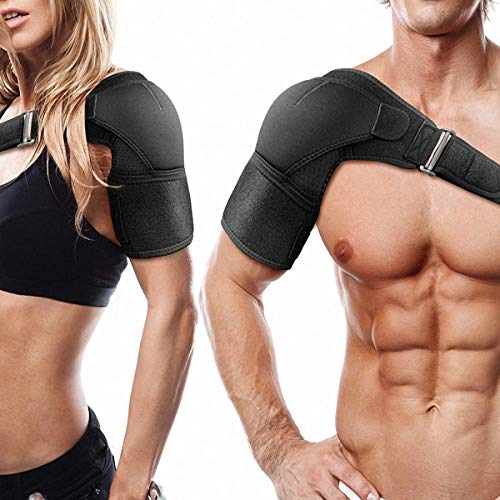 Shoulder Brace for Torn Rotator Cuff, AC Joint Pain Relief - Arm Immobilizer Wrap,Recovery Shoulder Brace, Ice Pack Pocket, Stability Strap