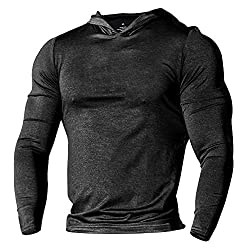 Athletic Activewear Bodybuilding Tapered Long Sleeve Sweat