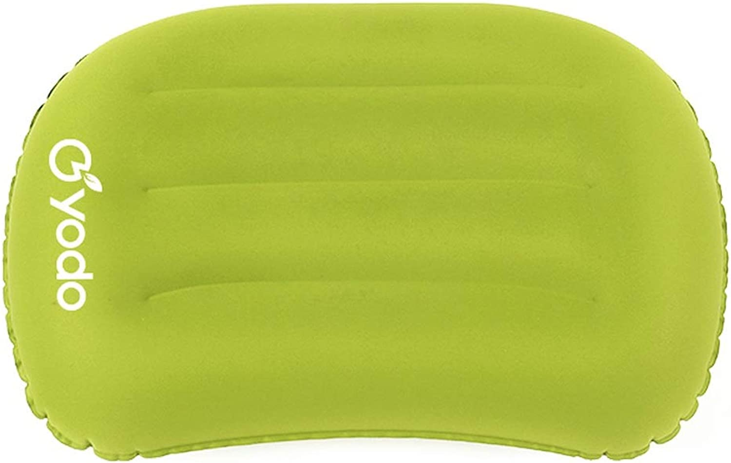 Inflatable Camping Pillow, Soft Fabric Ergonomic Design with Storage Bag Portable for Backpacking Hiking Camping Traveling (color   Green)
