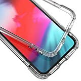 Syncwire iPhone X Hülle Transparent, iPhone XS Schutzhülle [Stoßfest] [Anti-Fingerabdrücke] [Anti-Scratch] TPU Hardcase mit Air Cushion Safeguard Fallschutz-Technologie für iPhone X/XS/10