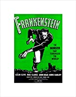 Movie Film Frankenstein Monster Karloff Horror Shelley Gothic Art Wall Art Print 映画膜モンスターホラー壁