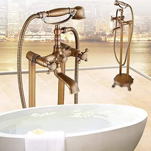 LILICEN CY Antiguo Europeo de pie bañera de Cobre for Suelo de Ducha Bañera Chaise Caliente y frío Hermoso Determinado práctica