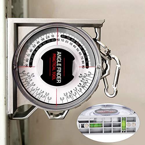 Bediffer Inclinómetro magnético del localizador de la inclinación y de la pendiente del localizador del ángulo para el ajuste de la pendiente