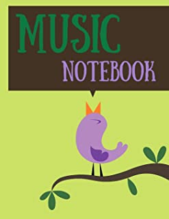 Music notebook: 120 pages wide staff paper manuscript paper (8.5x11), 8 staves per page (easy to write on); for learning; back to school 2020